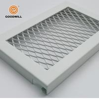 China Diamond shaped perforated pattern metal plate mesh steel panels for sale