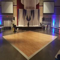 China Use hardwood flooring for sale aluminum edge for dance floor twinkling dance floor on sale