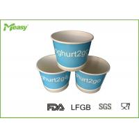 Wholesale Blue Yogurt Disposable Paper Bowl With Double Poly Coated Virgin Paper , Multiple Color from china suppliers