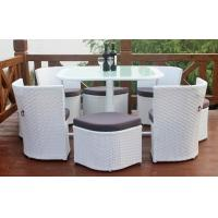 Wholesale outdoor garden synthetic rattan furniture chair and table sets from china suppliers