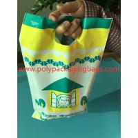 China W14 X L28cm Die Cut Handle Bags / Hand Hole Shopping Plastic Travel Bags for sale