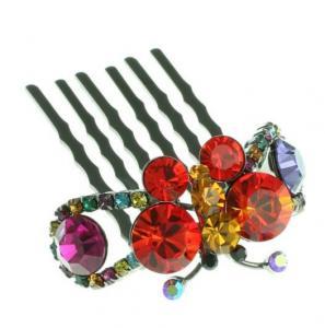 China Customizable elegant Handmade gold plating Crystal bridal hair ornaments for Anniversary on sale