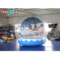China Durable Inflatable Holiday Decorations , 3m Inflatable Snow Globe Transparent Bubble Tent With Printed Background on sale