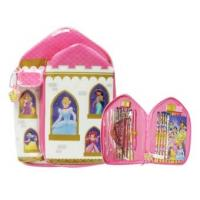 Wholesale Disney Princess Pink PVC Stationery Bag In Castle Type from china suppliers