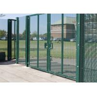 Quality Green / Black Metal 358 Security Fence Powder Coated With Posts And Hardware for sale