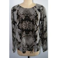 Wholesale Women Leopard Floral Print Sweater , 12 Gauge Long Sleeve Pure Cashmere Pullover from china suppliers