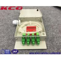 Wholesale 4  Ports Fiber Optic Patch Panel  , OTB Fiber Optic Termination Panel Face Plate from china suppliers