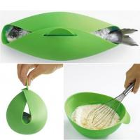 Round Shape Silicone Kitchen Utensils Silicone Collapsible Bowl For Baking Fish