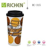 Wholesale RC-315 double wall plastic tumblers Printing coffee mugs 16oz from china suppliers