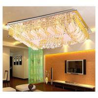 Wholesale Rectangle crystal ceiling lamp top design indoor LED glass ceiling lamp from china suppliers