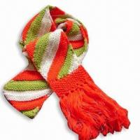 Wholesale Acrylic Knitted Scarf with Silver Thread from china suppliers