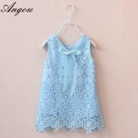 Agnou Summer Lace Vest Girls Dress Baby Girl Princess Dress Chlidren Clothes wholesale