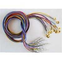 Colorful EEG Cables With Sliver Plating Cup Electrodes Shielding Wire Optional