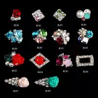 Best Flower Ice Cream 3D Nail Art Sticker Glitter Rhinestones Decoration jewelry ML85-98 wholesale