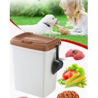 Wholesale 40L 15kgs 17lbs high quality stocked customized pet food storage container bucket dispenser dog food can box for dog cat from china suppliers