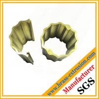 Wholesale two parts joint round brass decoration material section profile from china suppliers