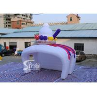 China Custom inflatable ice cream kiosk stand both tent with LED light cover for Advertising Activities for sale