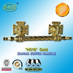 Dia. 20mm zinc alloy coffin handle H016 zamak coffin bar gold color Italy quality size 12.5*10 cm