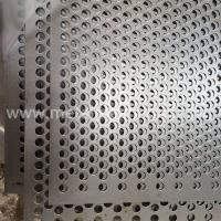 Buy cheap Staggered 60 Degrees Round Hole Perforated Metal from wholesalers