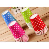 Wholesale Children Lovely Single Wall Paper Cups For Hot Cold Drinks , Logo Printing from china suppliers