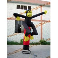Custom Inflatable Air Dancer / Sky Dancer Inflatable Monkey Shaped Of Promotion