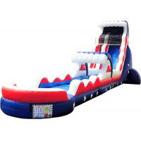 China Outdoor Activities Kids Inflatable Water Slide Silk Printing Waterproof for sale