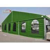 Best Aluminum 15 x 35 Green Color Military Temporary Aircraft Hangar Portable With Sandwich Walling For Sale wholesale