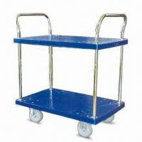 Wholesale Platform Hand Trucks with 2 Layers and Double Side Handle, Measures 800 x 500 x 920mm from china suppliers