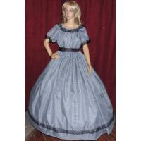 Wholesale Civil War Dress Wholesale XXS to XXXL CIVIL WAR SOUTHERN BELLE VICTORIAN PIONEER Black Gingham Chck Costume Dress Gown from china suppliers