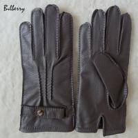 Wholesale Genuine Wool Lined Mens Soft Leather Gloves Deer Skin Mens Leather Gloves from china suppliers