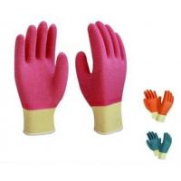 Wholesale Latex full coated gloves,10G high grade T/C liner,crinkle finsh,anti-acid/alkali from china suppliers