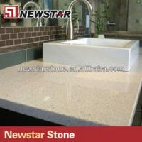 Buy cheap Newstar polish white quartz vanity tops with sink from wholesalers
