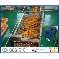 Wholesale 10TPH Automatic Orange Juice Extract Orange Processing Line For Juice Making Factory from china suppliers