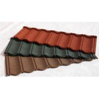 Wholesale Wood Shingle Materials Stone Coated Metal Roof Tiles , Galvanized Stone Coated Tile from china suppliers