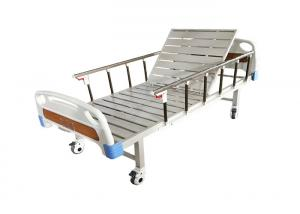 China Cheap Price Single Crank Manual Hospital Use Medical Bed For Patient Manual Adjustable Steel Single 1 Crank Hospital Bed on sale