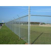 Wholesale Plain Weave Style Black Galvanized Chain Link Fence Panels For Playground from china suppliers