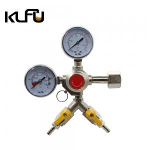 Wholesale CGA320 Inlet Thread CO2 Beer Regulator Forged Brass Body from china suppliers