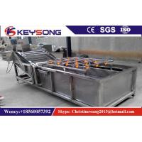 Wholesale High Pressure Air Bubble Vegetable Wash Line , Fruit And Vegetable Washer Machine from china suppliers