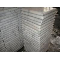 Marble Wall Coping Guangxi White Marble Pier Cap China Carrara Marble Finials Column Top for sale