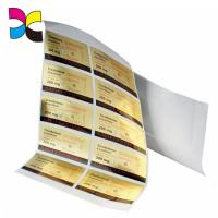 Personalized Gel Adhesive Sticker Labels Freeze Resistant Sheet Packaging for sale