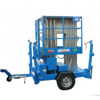 Buy cheap 12m towable scissor lift electric aluminum mast lift plataforma elevadora from wholesalers
