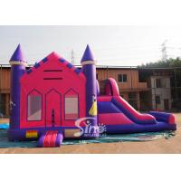 Quality 4in1 pink kids party inflatable princess bounce house with slide from Guangzhou for sale