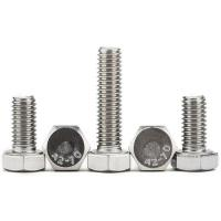 Wholesale SS 316 A4 Flagne Galvanized Hex Bolts High Strength Full Thread Common Bolt Heads from china suppliers