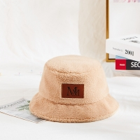 Wholesale Plain Color Warm Furry Plush Fisherman Bucket Hat For Ladies from china suppliers