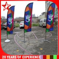 Wholesale manufacture 2.8-5.6m Colorful beach flag stand,advertising beach flag banners,beach flag with pole and base from china suppliers