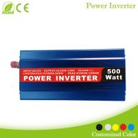 China New DC/AC type solar power inverter 500w Blue color for sale