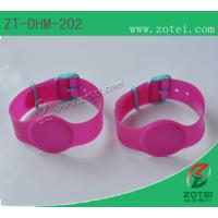 Buy cheap RFID Soft PVC wristband tag (Watch Band Clasps, Product model: ZT-DHM-202) from wholesalers