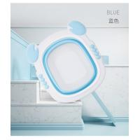 China Crab Plastic Household Child Wash Basin For Baby OEM Red Blue Green foldable baby basin for sale