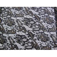 Quality Eco Friendly Lace Metallic Nylon Fabric For Apparel Black CY-LW0219 for sale