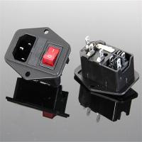 Wholesale 10A 250V AC Socket with Rocker switch from china suppliers